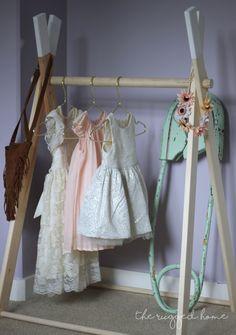 DIY Kids Clothing Rack, Safety pin