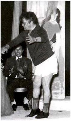 Tawfik El Da'n Dancing in his underwear.
