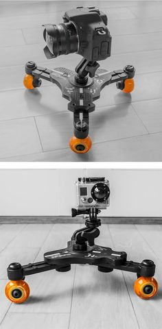 Cinetics SmartMount Dolly - The perfect set-up for fast and easy dolly shots using your favorite camera, smartphone or action camera.