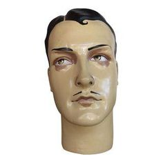 Image of Vintage French Male Mannequin Head, Art Deco Style Vintage Mannequin, Mannequin Heads, Antique Toys, Vintage Antiques, Art Deco Fashion, Fashion Dolls, Art Deco Dress, Decoupage Art, Hat Stands