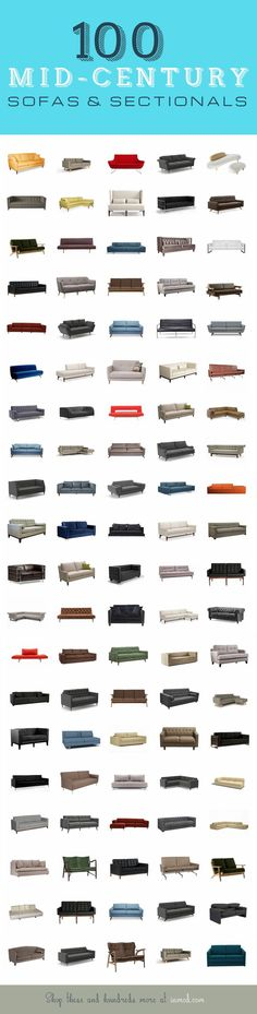 100 of our favorite Mid-Century / Modern Sofas & Sectionals from Inmod. With hundreds more, many of them customizable & totally affordable, finding that perfect mid-century conversation or accent piece has never been easier! Mid Century Modern Sofa, Mid Century Sofa, Mid Century Decor, Mid Century Style, Mid Century Modern Design, Mid Century Modern Furniture, Sofa Furniture, Sofa Chair, Sofa Set