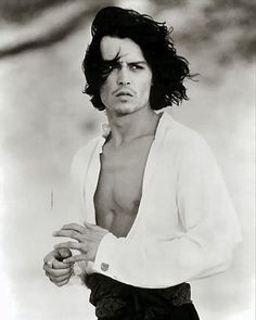 Johnny Depp- think id do just about anything for you to even just BREATH on me!! <3
