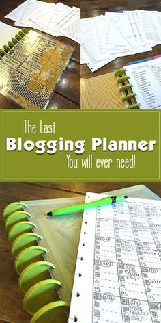 Blogging Planner - Great For Bloggers and Content Creators | PDF Printable  If you are a serious blogger looking to take your business to the next level, then this is the planner for you. Started from the original forms I was using in my successful blogging business, I then enlisted the help of 6 of my blogger buddies to make sure that this planner had everything to help you be creative and organized in your planning.