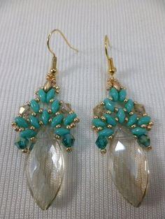 The Beading Gem's Journal: Two Beaded Crystal Briolette Earrings ~ Seed Bead Tutorials