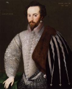 Sir Walter Ralegh, undated, by 'H' (floruit 1588)