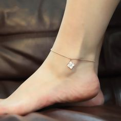 Top Quality Fashion Rose Gold Color Stainless Material Bells and Clovers Charms Foot Bracelet / Foot Charms Chain Gold Anklet, Anklets, Womens Ankle Bracelets, Jewelry Sets, Unique Jewelry, Foot Bracelet, Ankle Jewelry, Ankle Chain, Ring Necklace