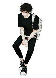 Swag anime boy with black style //. Cool Anime Guys, Handsome Anime Guys, Hot Anime Boy, Anime Art Girl, Anime Boys, M Anime, Dark Anime, Dossier Photo, Estilo Anime