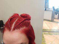 Red hair braids by Red Hair, Braided Hairstyles, Knitted Hats, Braids, Space, Knitting, Fashion, Bang Braids, Floor Space