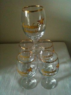 For Sale: 5 Beer glasses: Five original glasses Corsendonk Christmas Ale...