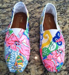 Lilly Inspired Hand Painted Toms (BB)