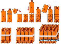 мебель из пластиковых бутылок своими руками: 2 тыс изображений найдено в Яндекс.Картинках White Side Tables, Plastic Bottles, Recycling, Office Supplies, Plastic Craft, Crafts, Crochet, Home Decor, Cardboard Furniture
