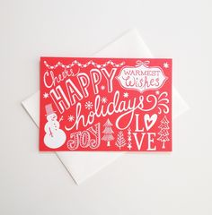 Happy Holidays Cards (Set of 6) / Beau Ideal