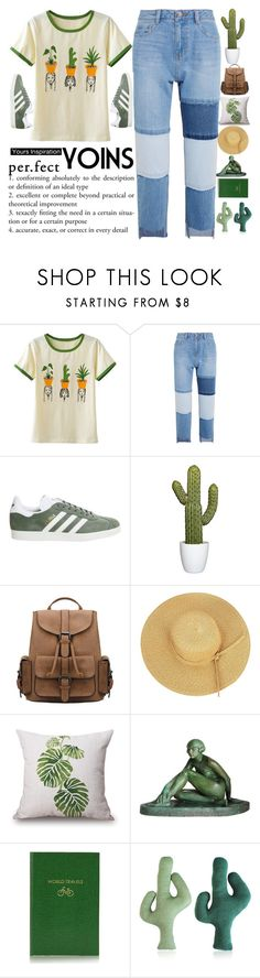 """""""Rules for that and exist, you know? So that you think about it before you break it.  © Terry Pratchett. Thief of Time YOINS #12"""" by holy-k15 ❤ liked on Polyvore featuring Steve J & Yoni P, adidas, Sloane Stationery, yoins, yoinscollection and loveyoins"""