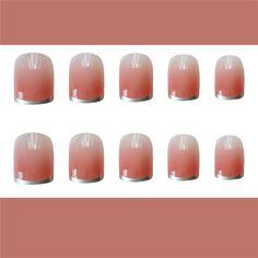 Excited to share this item from my shop: Light pink,French Style,Romantic,press on nails Gradient Nails, Nude Nails, Matte Nails, Stiletto Nails, Pink Nails, Gel Nails, Dark Purple Nails, Nail Photos, Nail Set