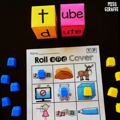 Build reading fluency by rolling and reading words with long vowels with silent E! Reading Words, Reading Fluency, Reading Lessons, Reading Skills, Teaching Reading, Cvce Words, Phonics Words, Phonics Lessons, Phonics Worksheets
