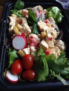Mango Chicken Salad Mango Chicken Salads, Cobb Salad, Meals, Food, Meal, Yemek, Yemek, Eten, Nutrition
