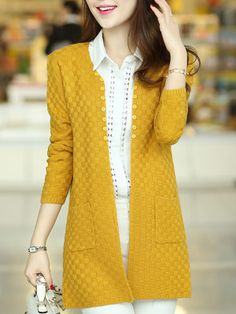 Cheap sweater plus size, Buy Quality plus size sweaters directly from China female sweater Suppliers: 2017 spring women's medium-long long-sleeve cape cardigan thin outerwear female sweater plus size sweater Long Cardigan, Sweater Cardigan, Plus Size Pullover, Gilet Crochet, Cheap Womens Tops, Plus Size Sweaters, Cardigan Fashion, Mode Hijab, Sweater Coats
