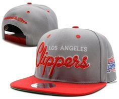 85208412a8be1 Casquette NBA Los Angeles Clippers Snapback Gris Rouge Casquette New Era Pas  Cher