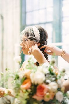 This Metropolitan Building Wedding from Judy Pak features vintage details, lace, pearls and bow ties. Headpiece Wedding, Wedding Veils, Wedding Blog, Destination Wedding, Bird Cage, Bride, Chic, Photography, Vintage