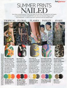 The Illustrated Nail in this months Glamour Magazine. Mine's the Jil Sander Paisley inspired design…