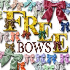 Free Digital Scrapbook Bows