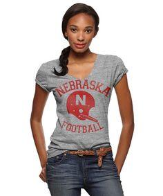 Nebraska Football V-Neck T-Shirt $34.00