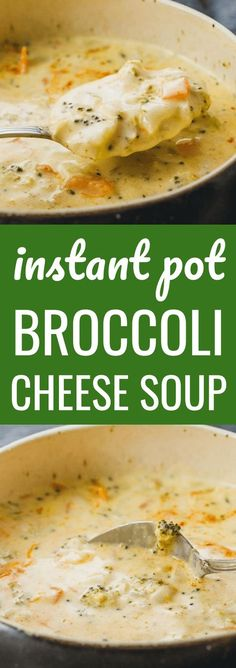This Instant Pot Broccoli Cheese Soup is one of my favorite vegetarian instapot pressure cooker recipes! It's so easy to make, simple, quick, and homemade from scratch. It's a creamy and hearty meal for families that's dinner in itself, and healthy as well so ideal for gluten free (no flour), keto / ketogenic, low carb, and weight watchers diet. #lowcarb #keto #instantpot This recipe is a copycat of the Panera soup, and can be easily frozen in the freezer for meal prep.