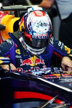 Sebastian Vettel of Infiniti Red Bull at the 2013 Japanese Formula One Grand Prix at Suzuka Circuit