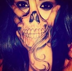 Hand tattoo, skeleton, i wouldn't get this but its pretty sweet...