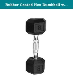 Rubber Coated Hex Dumbbell with Contoured Chrome Handle [Set of 2] Weight: 50 lbs. SDR-050 Weight: 50 lbs Features: -Hex shaped dumbbells with rubber coated heads and chromed contoured handles. -Black color. -This product contains one or more chemicals known to the State of California to cause cancer, birth defects or other reproductive harm. Product Type: -Dumbbells. Quantity: -Single. Weight Range: -< 5 Lbs./5-30 Lbs./31-60 Lbs./60+ Lbs.. Material: -Rubber. Dimensions: -Holding…