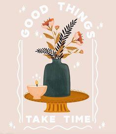 Magazine Illustration, Illustration Art, Flow Magazine, Good Things Take Time, Cute Art, Artsy, Concept, Graphic Design, Wall Art