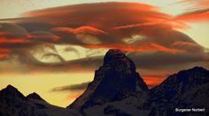 Wenn die Sonne untergeht am Matterhorn.  Switzerland, Swiss Alps, Zermatt By Norbert Burgener