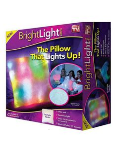 A light-up pillow for the little ones who are scared of the dark! #brightlightpillow #idvproducts #ideavillage