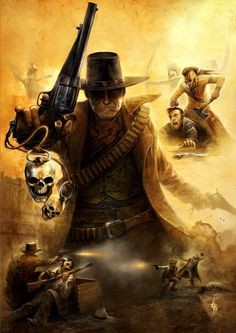 I think this is from a Swedish roleplaying game called Western. Not sure of the artist. #SwoM #eidolon