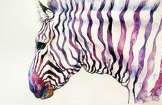 """Magenta Monarch Zebra"" by Arti Chauhan"