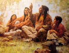 The storyteller circa 1988 by H. Terpning