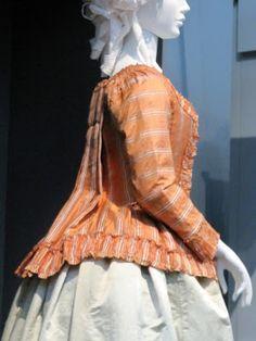 Caraco jacket, LACMA, c. 1760 (altered 1780)