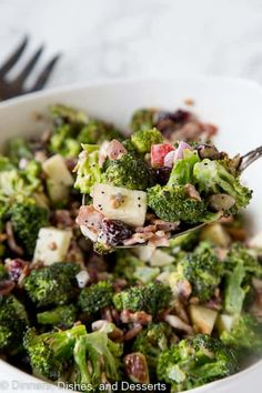 Nov 2019 - Broccoli Salad Recipe - roasted broccoli salad with bacon, apples, cranberries, almonds, sunflower seeds and a creamy poppy seed dressing! Apple Broccoli Salad, Kale Salad Recipes, Pasta Recipes, Cajun Fried Shrimp Recipe, Chicken Pesto Pasta Salad, Southwest Quinoa Salad, Loaded Baked Potato Salad, Potluck Salad, Summer Salads With Fruit