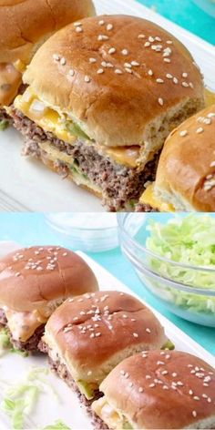 Big Mac Sliders - Party Rezepte - Fingerfood & Snacks - Home Best Sandwich Recipes, Best Appetizer Recipes, Best Appetizers, Pizza Recipes, Party Food Recipes, Delicious Appetizers, Soup Appetizers, Easy Dinner Recipes, Crockpot Recipes