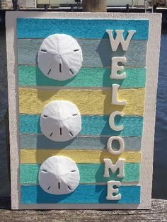 Nautical Sand Dollar Welcome Sign I FREE by beachychictreasures