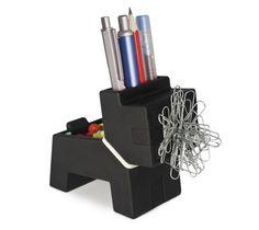 Rocky Desk Butler Fun Office Stationery Home Magnetic Desk Tidy Pen Pot