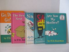 P.D. EASTMAN Books -Set of 5- Sam and the Firefly, The Best Nest, Snow, Are You My Mother?, Go, Dog, Go! by CellarDeals on Etsy