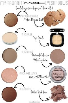 mac-cosmetics-eyeshadows-and-drugstore-dupes-of-them-all - top_make_up_pintennium Mac Eyeshadow Dupes, Drugstore Makeup Dupes, Mac Dupes, Makeup Eyeshadow, Makeup Brushes, Lipstick Dupes, Mac Bronzer, Liquid Lipstick, Love Makeup