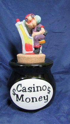 "What a Concept ! "" Casino Money "" Jar Cork Stopper Piggy bank #Whataconcept"