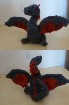 Awesome FREE dragon knitting pattern! For mama Leia!!!