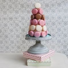 Add a Laduree inspired Macaron Tower to your wedding sweets table for a touch of simple, French elegance!