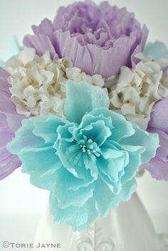 Crepe Paper Peony Flower Tutorial