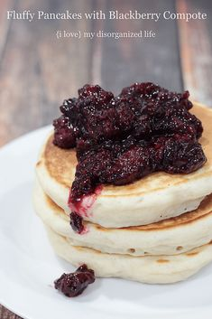 Homemade Blackberry Pancakes - {i love} my disorganized life