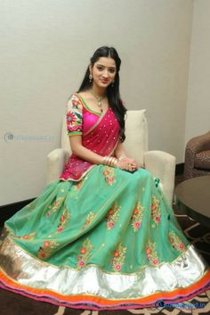 Richa Panai Cute in Half Saree.. Visit http://www.justreleased.in/celebrity/richa-panai-cute-saree/ for more