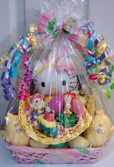 Sold reeses cheetah easter gift basket 18 handmade asst yellow pink hello kitty bunny vintage easter gift basket 35 cappellos creations facebook negle Choice Image
